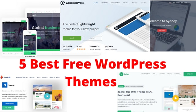 5 Best Free WordPress Themes 2020, Which Are Light Weight And SEO