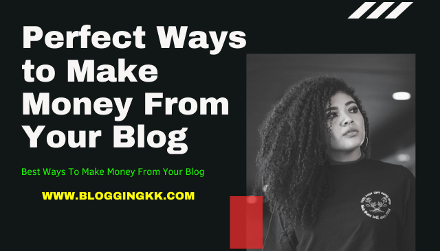 Perfect Ways to Make Money From Your Blog