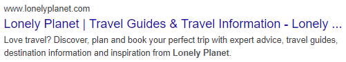 7. Lonely planet