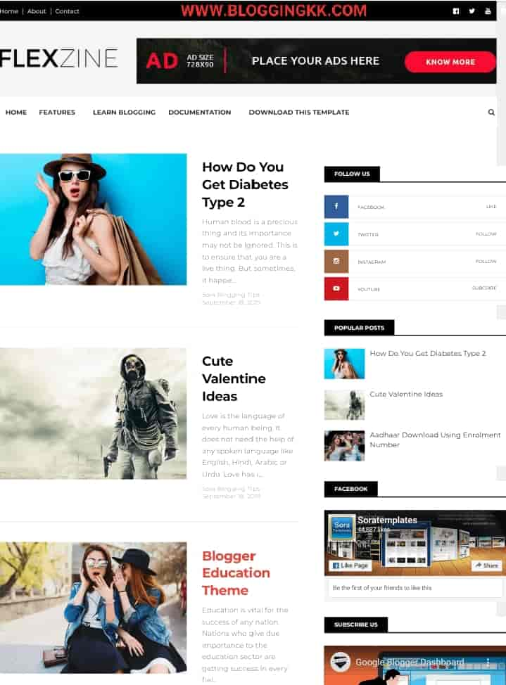 FlexZine-Blogger-Template