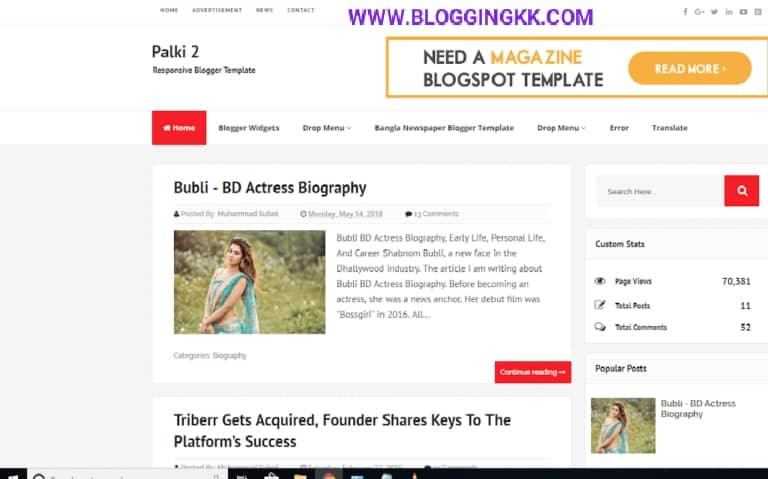 Palki-2-Blogger-Template
