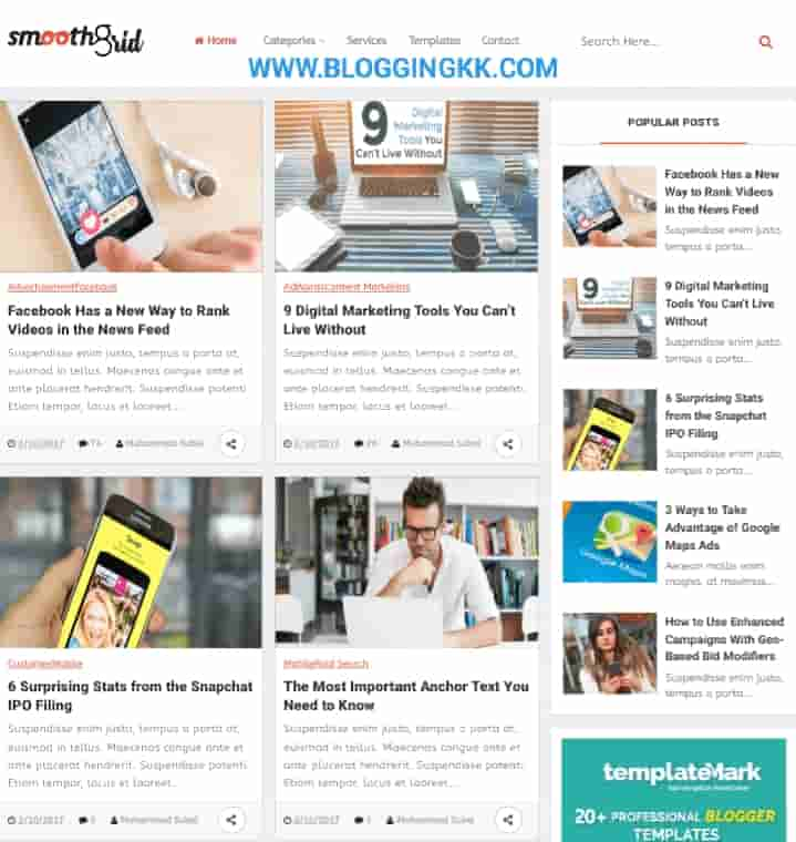 Smooth-Grid-Blogger-Template