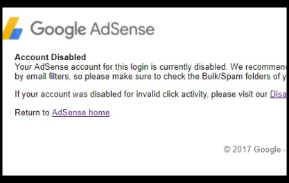STEP NO.1: Login into Your Disable Adsense Account.
