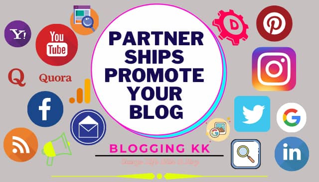 Partnerships Promote Your Blog